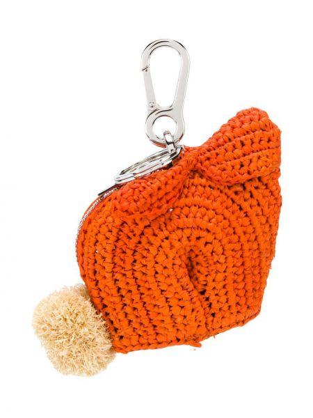 Оранжевая кожаная сумка Loewe