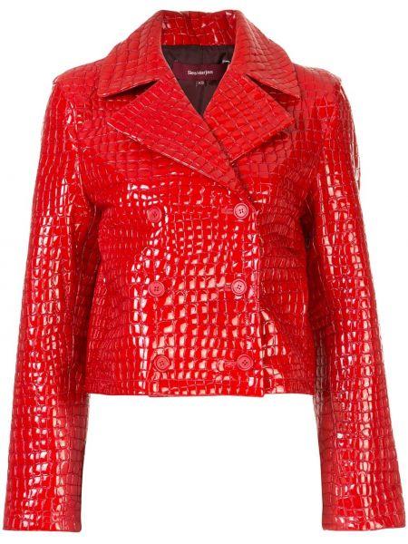 Красная лаковая кожаная короткая куртка Sies Marjan