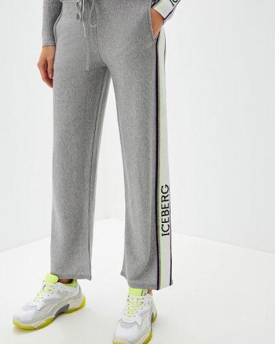 Спортивные брюки серебряный Iceberg