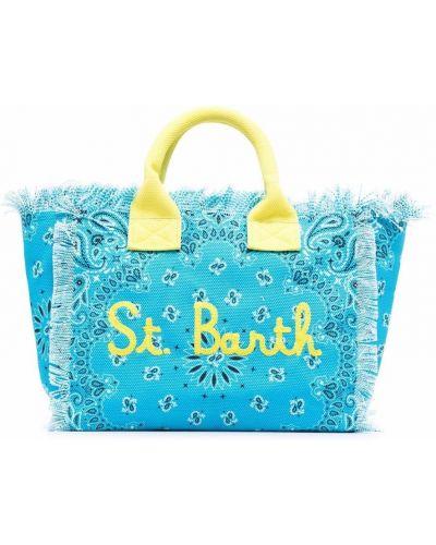 Ватная хлопковая синяя косметичка Mc2 Saint Barth