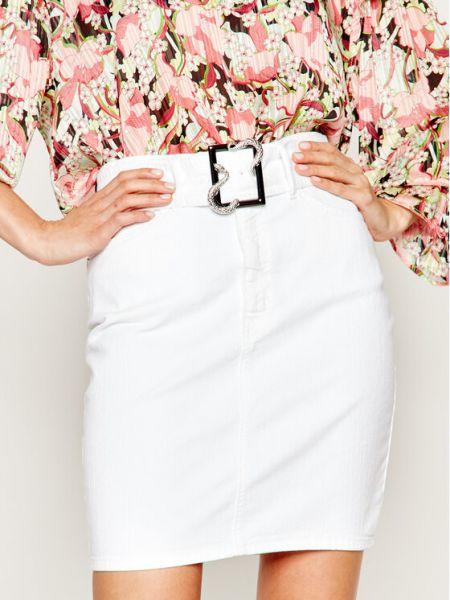 Spódnica jeansowa - biała Just Cavalli
