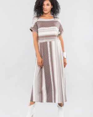 Бежевое повседневное платье Maxa