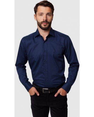 Джинсовая рубашка вельветовая с длинным рукавом канцлер