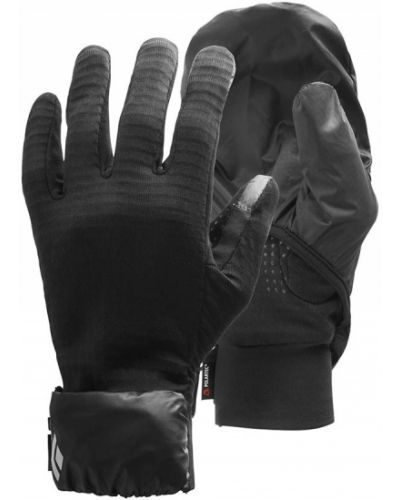 Czarne rękawiczki z kapturem z diamentem Black Diamond