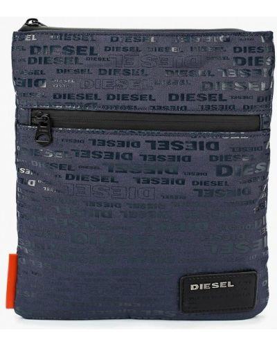 Синяя сумка через плечо Diesel