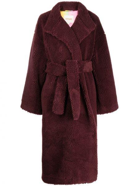 Fioletowy długi płaszcz Apparis