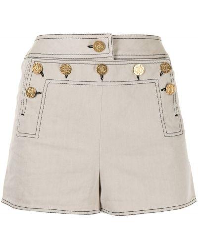 Коричневые прямые хлопковые шорты Chanel Pre-owned