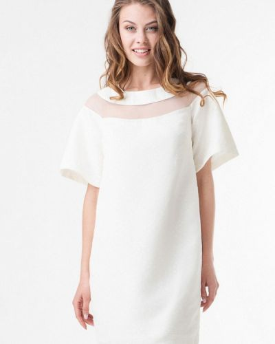 Белое платье осеннее Ricamare