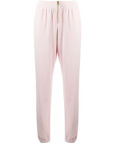 Розовые велюровые джоггеры на молнии Juicy Couture