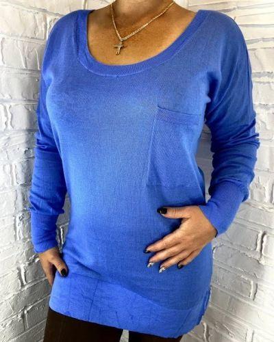 Теплый фиолетовый джемпер с круглым вырезом Rozetka