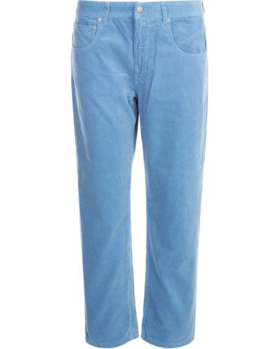 Niebieskie spodnie prążkowane Aspesi