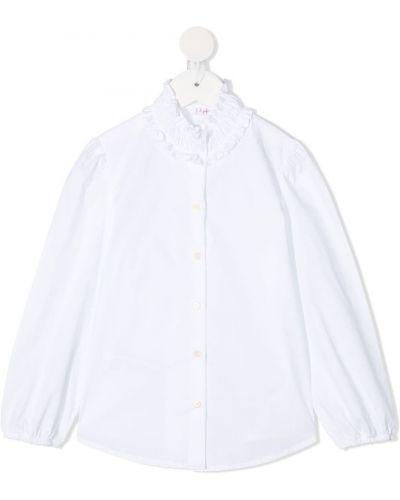Хлопковая с рукавами белая рубашка Il Gufo