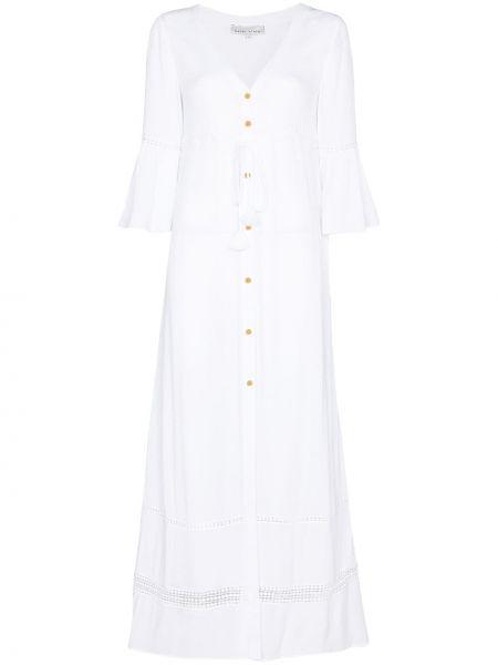 Biały sweter koronkowy Heidi Klein
