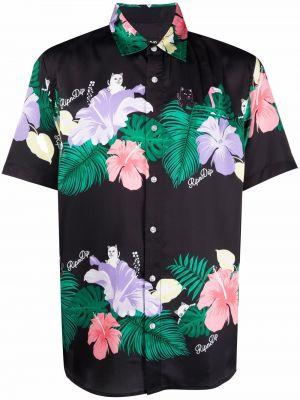 Рубашка с коротким рукавом - черная Ripndip