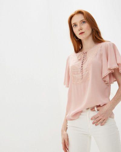 Блузка с коротким рукавом бежевый Lusio