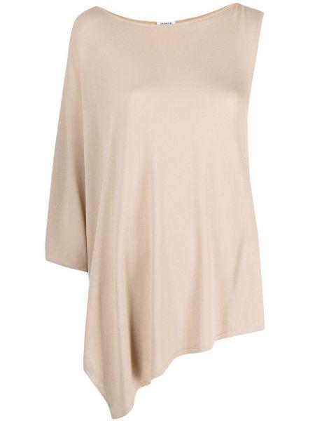 Бежевая блузка из вискозы с круглым вырезом P.a.r.o.s.h.