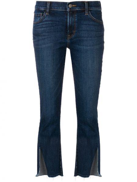 Укороченные джинсы с манжетами с поясом на пуговицах J Brand