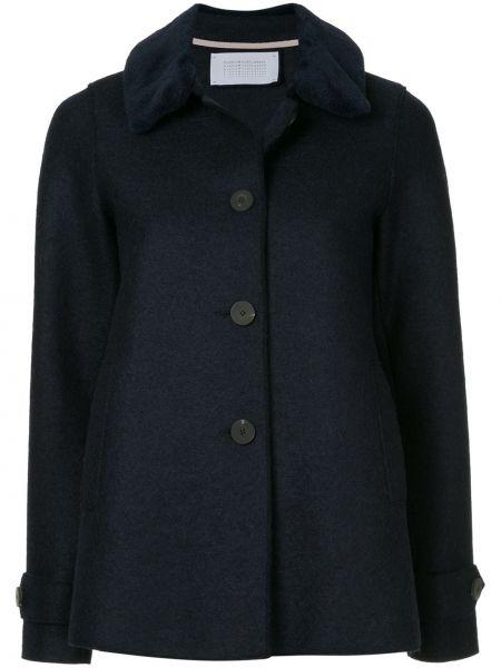 Синяя куртка с опушкой Harris Wharf London