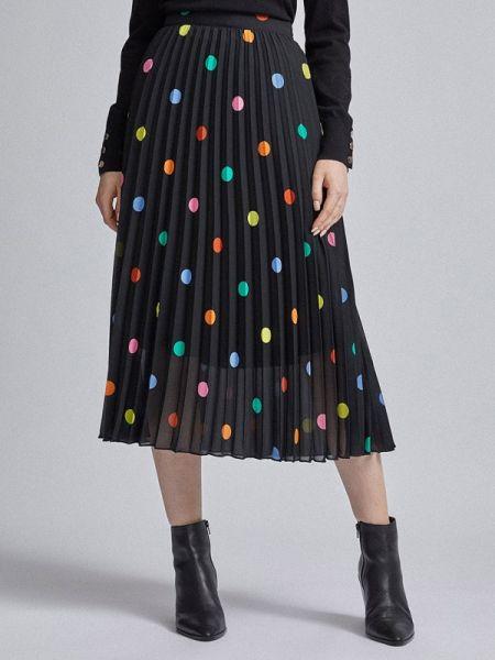 Плиссированная юбка весенняя черная Dorothy Perkins