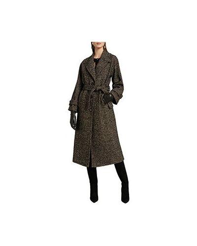 Коричневое акриловое пальто Luisa Spagnoli