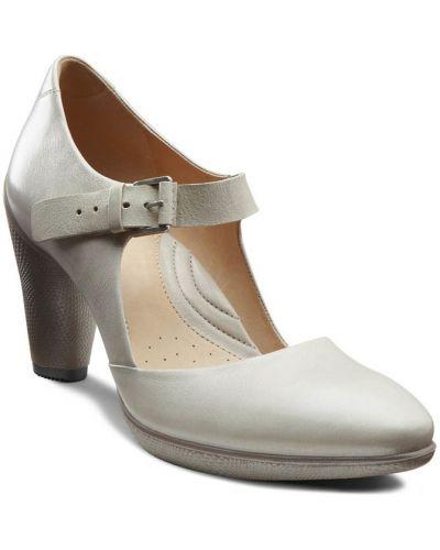 Туфли на каблуке кожаные оранжевый Ecco