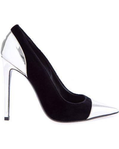 Туфли-лодочки кожаные на каблуке Balmain