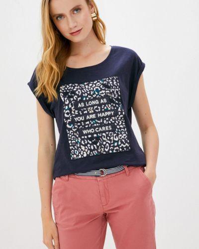 Синяя с рукавами футболка S.oliver