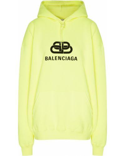 Свитшот с логотипом салатовый Balenciaga