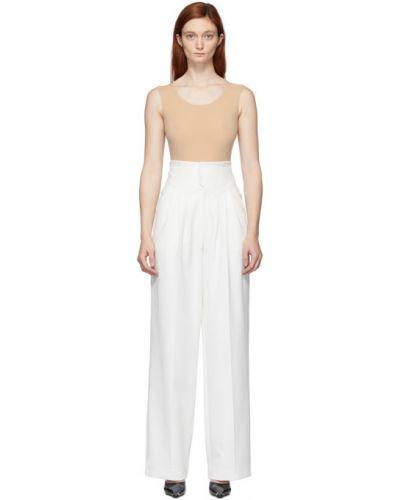 Белые брючные брюки со складками Situationist