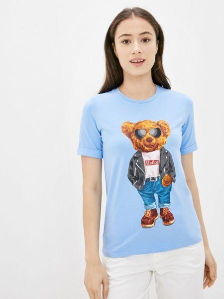 Футболка - голубая Fashion.love.story