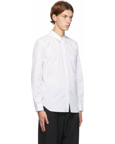 Biała koszula bawełniana w paski Comme Des Garcons Homme Deux