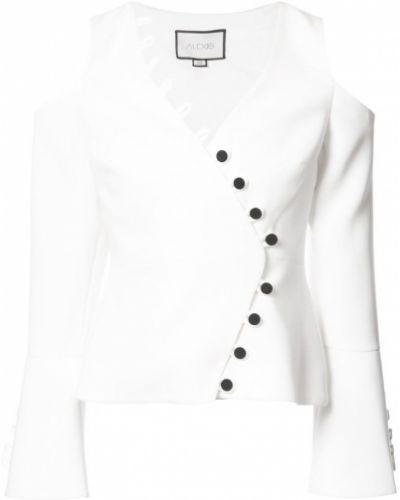 Белая блузка с вырезом Alexis