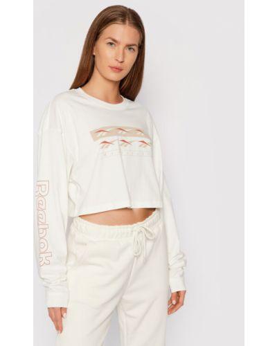 Bluzka oversize - beżowa Reebok Classic