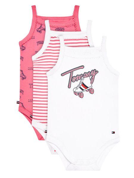 Różowy body Tommy Hilfiger
