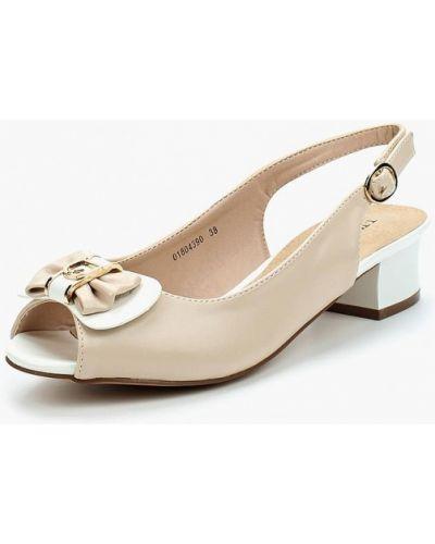 Кожаные туфли с открытой пяткой на каблуке T.taccardi