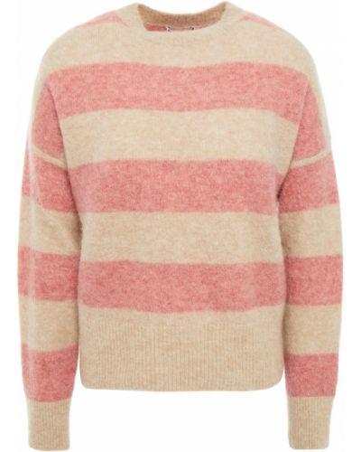 Шерстяной вязаный свитер в полоску Brunello Cucinelli