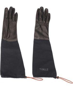 Кожаные перчатки - черные Heron Preston