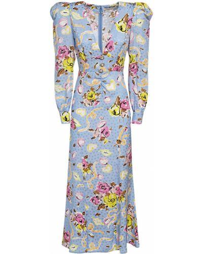 Шелковое платье макси Alessandra Rich