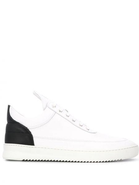 Skórzane sneakersy białe z logo Filling Pieces