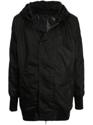 Czarny płaszcz z kapturem Julius