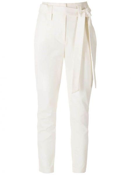 Хлопковые белые брюки с карманами Martha Medeiros