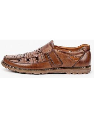 Коричневые кожаные сандалии T.taccardi