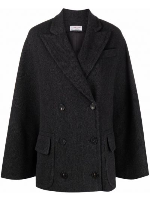 Шерстяное пальто - серое Alberto Biani