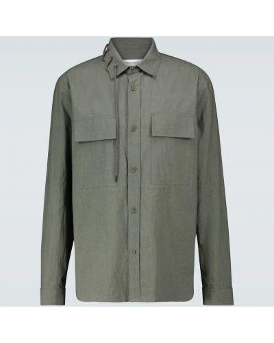 Хлопковая зеленая рубашка с воротником Craig Green