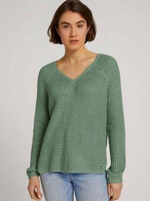 Бирюзовый пуловер Tom Tailor Denim