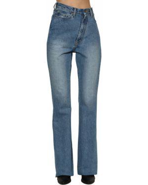 С завышенной талией синие джинсы с карманами Facetasm