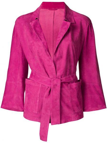 Пиджак замшевый розовый Sylvie Schimmel