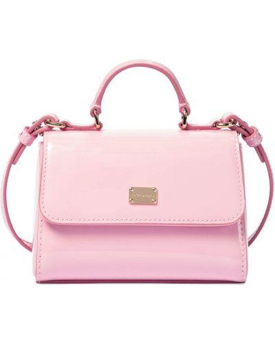 Кожаная косметичка - розовая Dolce & Gabbana Kids