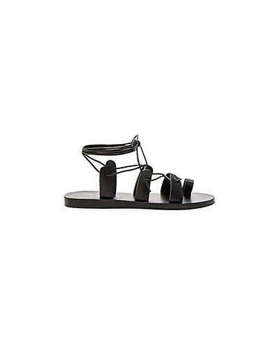 Сандалии кожаный черные Ancient Greek Sandals