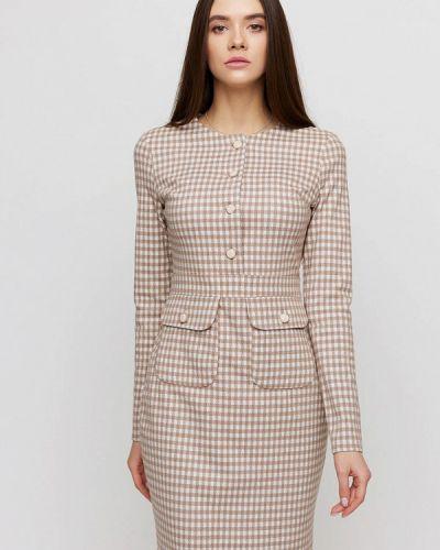 Бежевое платье-футляр Cardo